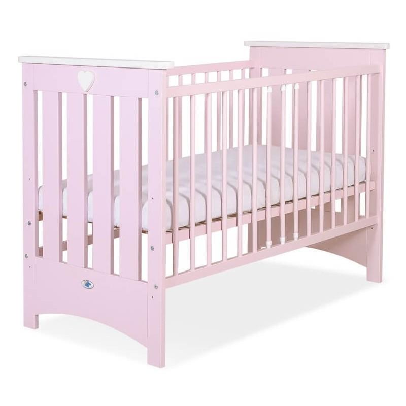Vaikiška medinė lovytė ENZO, rožinė