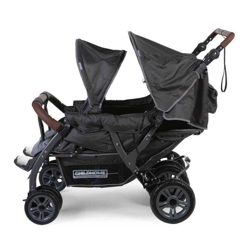 Keturvietis vežimėlis CHILDHOME AUTOBRAKE ANTHRACITE  +RC+SC