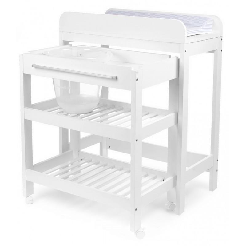 Vystymo stalas su vonele, baltas