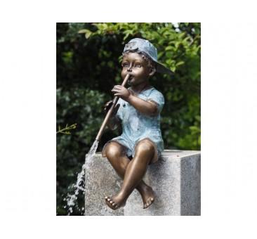 Sodo skulptūra H 50 cm Berniukas su fleita