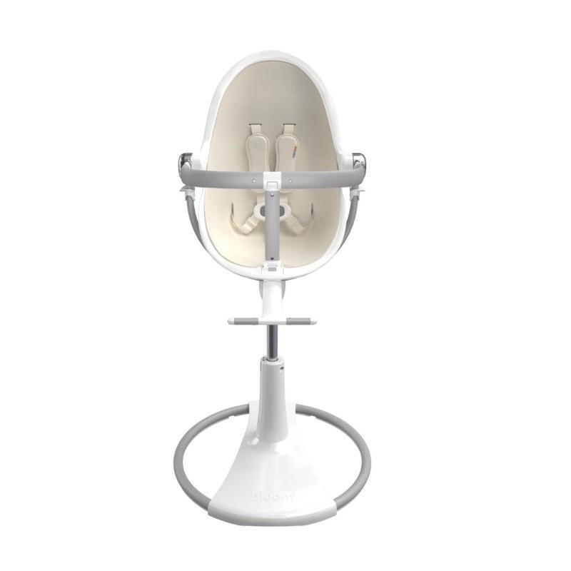 """Maitinimo kėdutė """"Bloom Fresco Chrome white"""" + baltas įdėklas"""