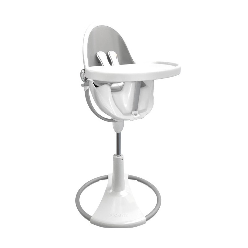 """Maitinimo kėdutė """"Bloom Fresco Chrome white"""" + sidabrinis įdėklas"""