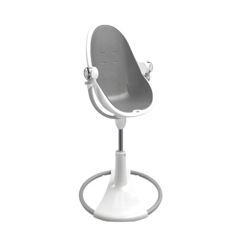 """Maitinimo kėdutė """"Bloom Fresco Chrome white"""" + pilkas įdėklas"""