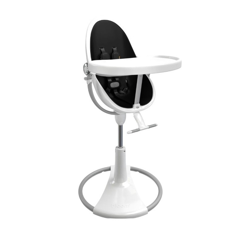 """Maitinimo kėdutė """"Bloom Fresco Chrome white"""" + juodas įdėklas"""