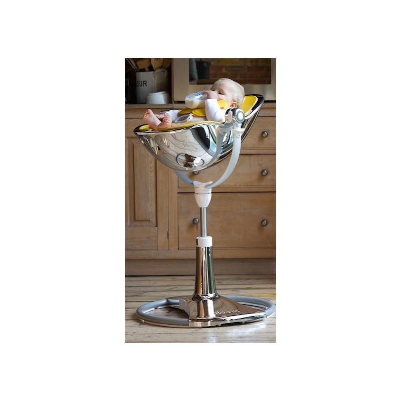 """Maitinimo kėdutė """"Bloom Fresco Chrome white"""" + rose gold įdėklas"""