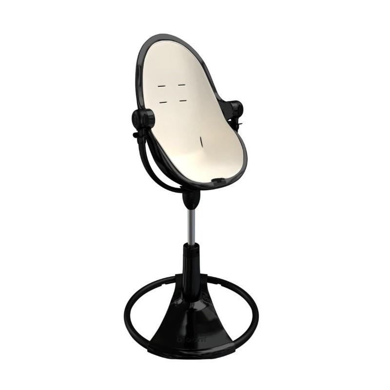 """Maitinimo kėdutė """"Bloom Fresco Chrome black"""" + baltas įdėklas"""