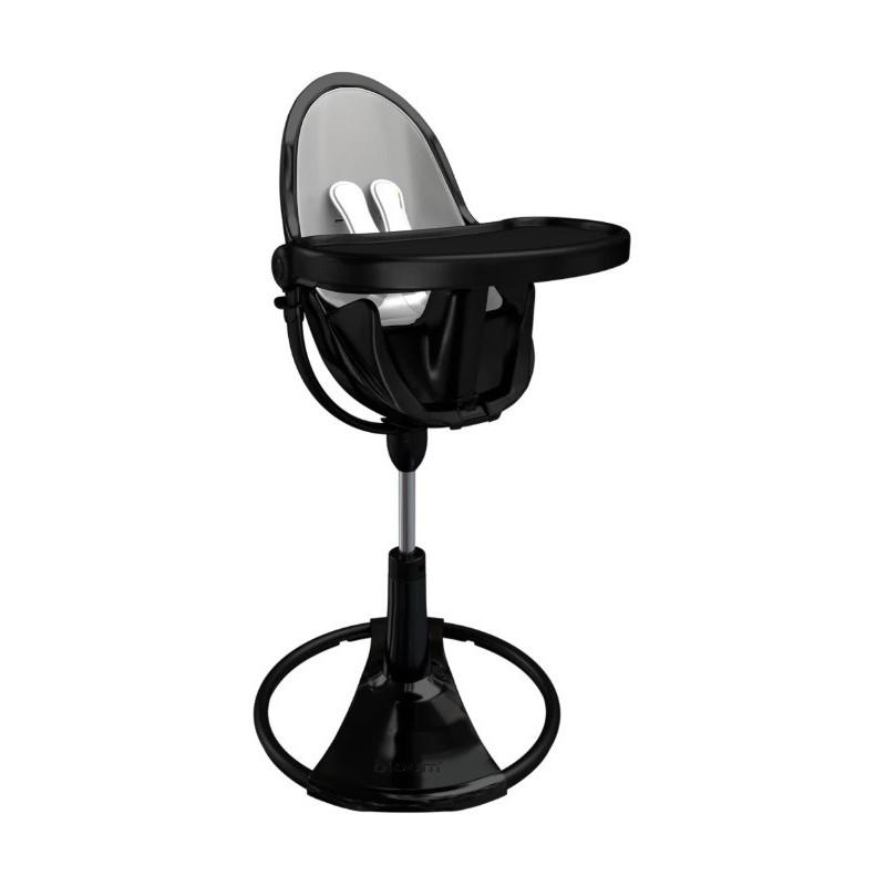 """Maitinimo kėdutė """"Bloom Fresco Chrome black"""" + sidabrinis įdėklas"""