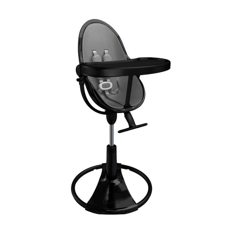 """Maitinimo kėdutė """"Bloom Fresco Chrome black"""" + pilkas įdėklas"""