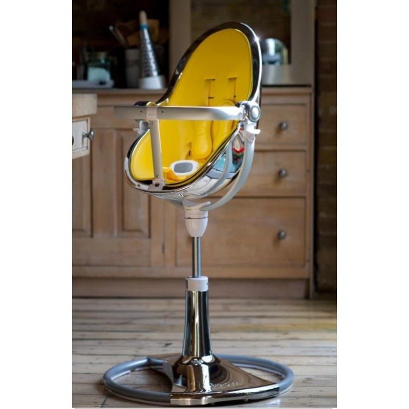 """Maitinimo kėdutė """"Bloom Fresco Chrome rose gold"""" + juodas įdėklas"""