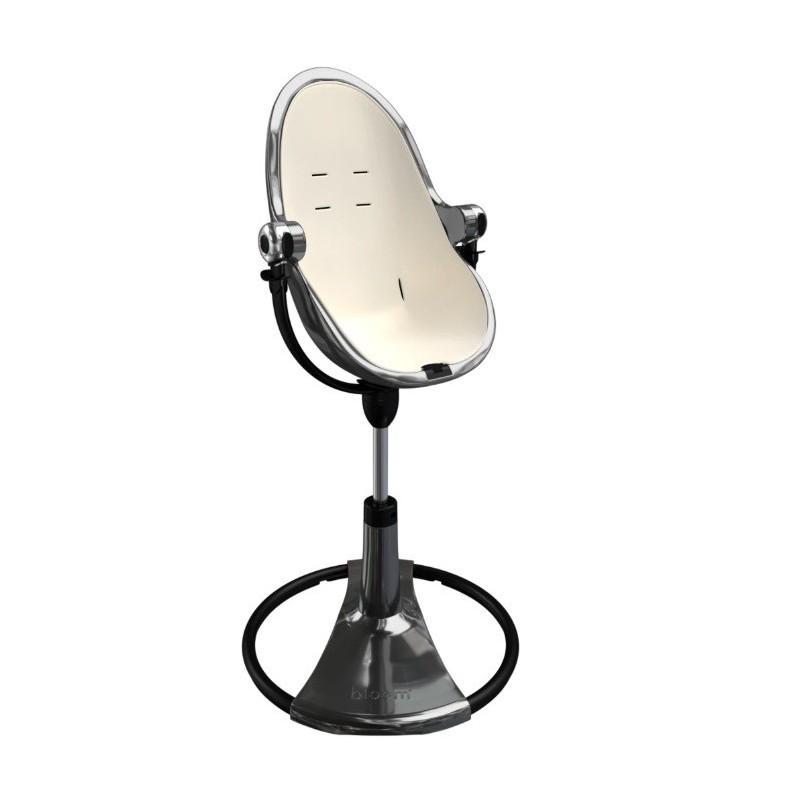 """Maitinimo kėdutė """"BLOOM FRESCO CHROME TITANIUM"""" + baltas įdėklas"""