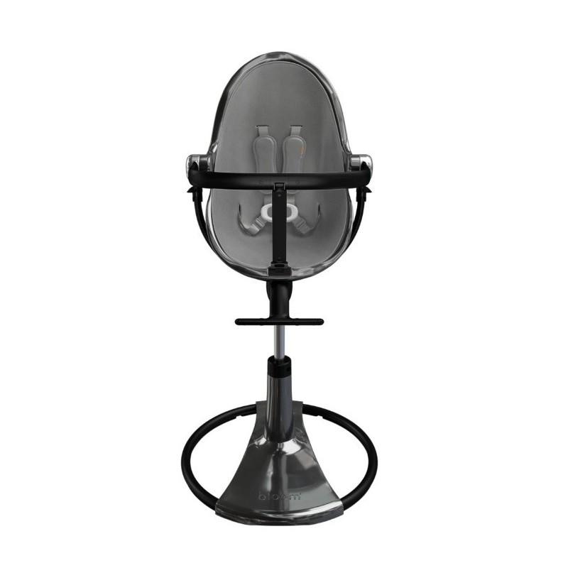 """Maitinimo kėdutė """"BLOOM FRESCO CHROME TITANIUM"""" + pilkas įdėklas"""
