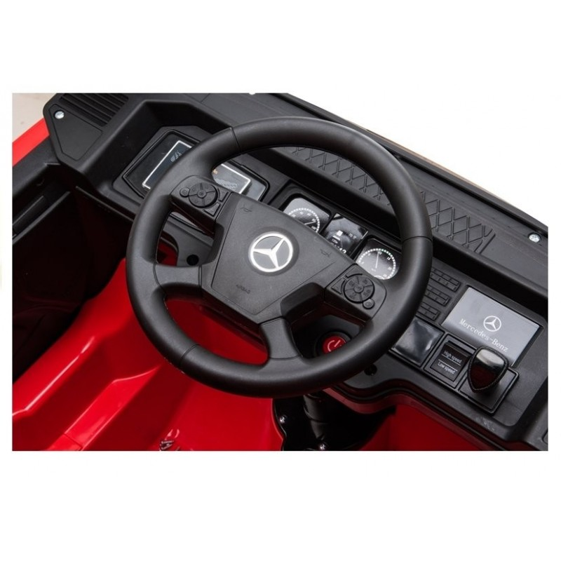 Sunkvežimis MERCEDES ACTROS, 4x4, 2x12V, raudonas