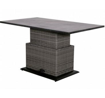 Reguliuojamas staliukas SOHO COAL, 130x75x45/72cm