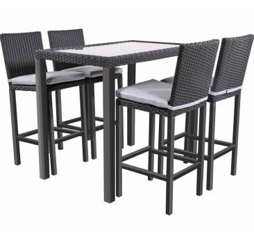 Baro baldų komplektas JAZZ BLACK