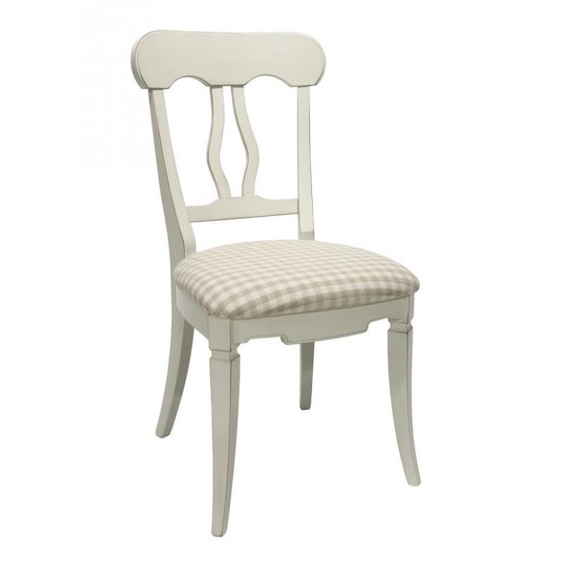Klasikinio stiliaus kėdė ELIZABETH, balta, 47x53x92 cm