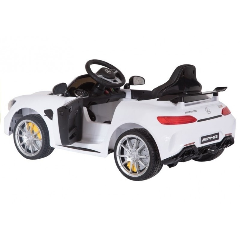 Elektromobilis MERCEDES AMG GT R, 2x6V, baltas