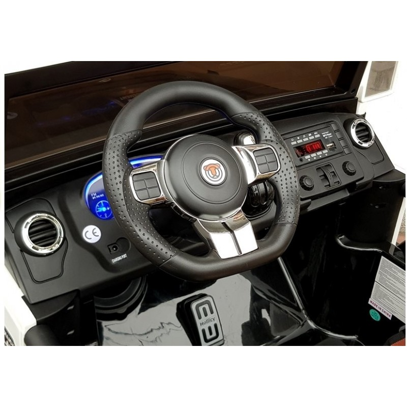 Policijos elektromobilis JEEP SX1719, dvivietis, 4x4, 12V, juodas