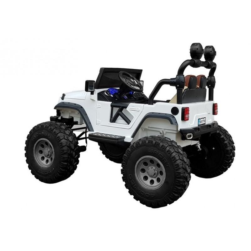 Elektromobilis JEEP SX1719, dvivietis, 4x4, 12V, baltas