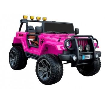 Elektromobilis JEEP WXE-1688, dvivietis, 4x4, 12V, rožinis