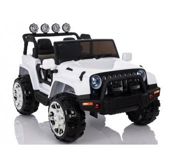 Elektromobilis JEEP A999, 4x4, 12V, baltas