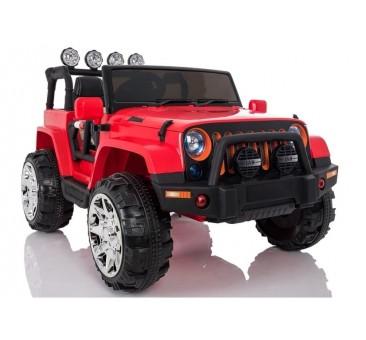 Elektromobilis JEEP A999, 4x4, 12V, raudonas