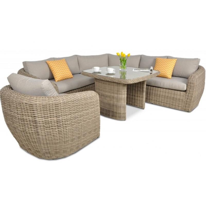 Lauko baldų komplektas ATANA DINING BEIGE + FOTEL