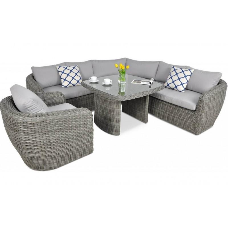 Lauko baldų komplektas ATANA DINING GREY + FOTEL