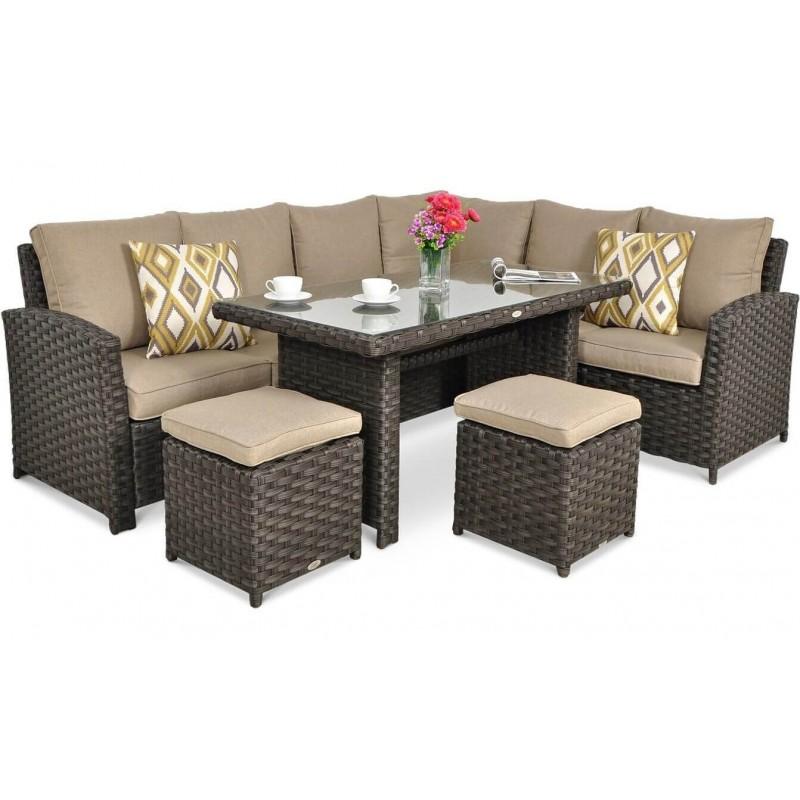 Lauko baldų komplektas SONTANA DINING BROWN