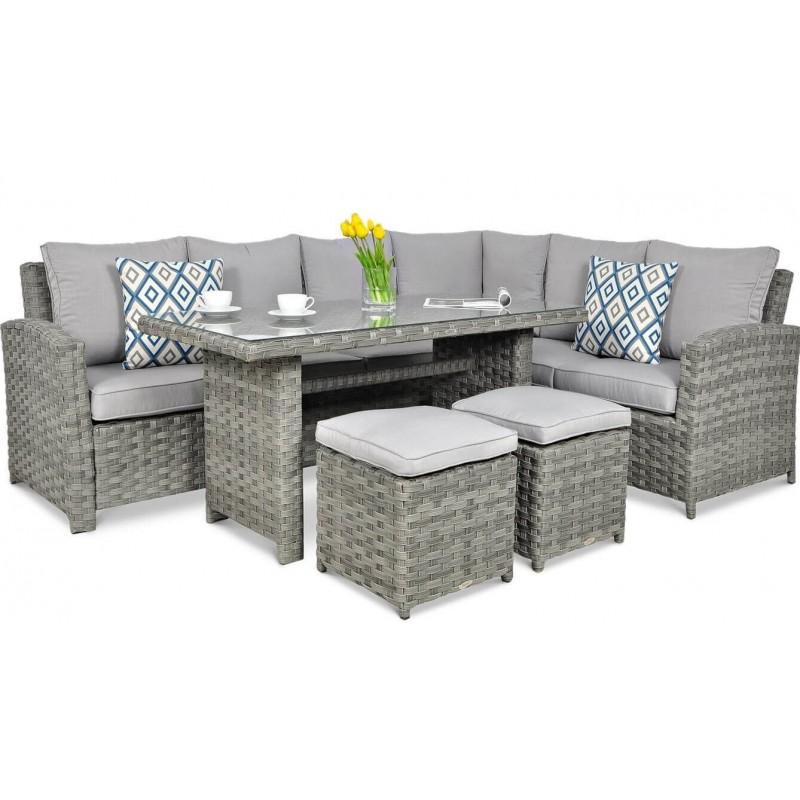 Lauko baldų komplektas SONTANA DINING MODERN GREY