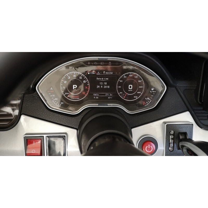 Elektromobilis AUDI Q5 4x4 2x12V dvivietis juodas lakuotas