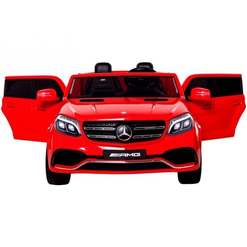 Elektromobilis MERCEDES GLS63AMG 4x4 raudonas, 2x12 V