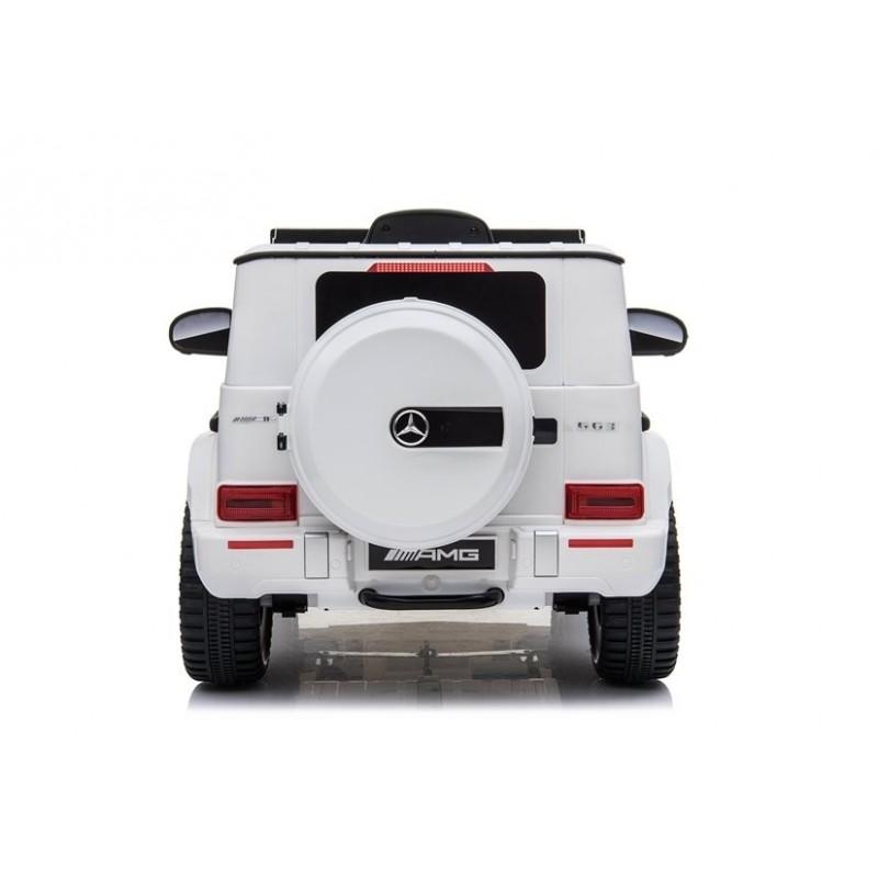 Elektromobilis MERCEDES G63 AMG, 12V, baltas