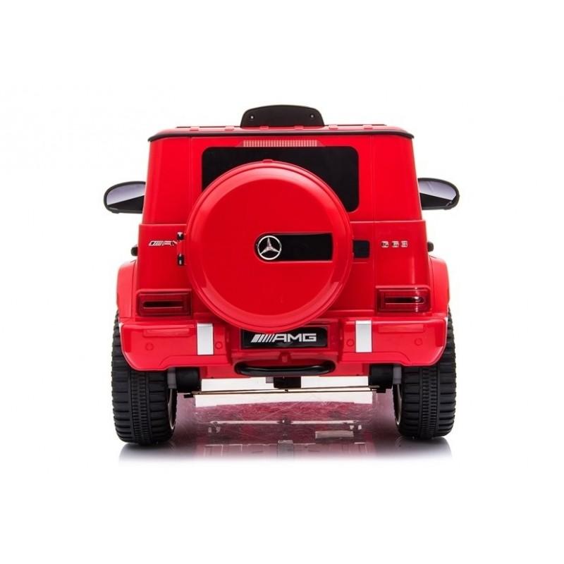Elektromobilis MERCEDES G63 AMG, 12V, raudonas