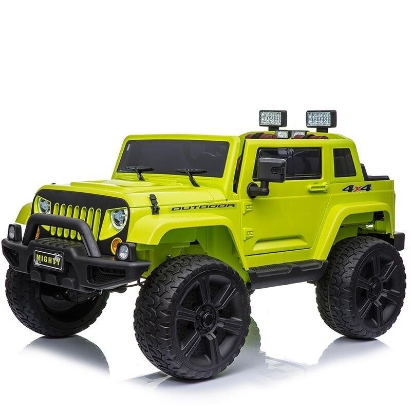Elektromobilis JEEP HL1668, 4x4, 2x12V, žalias