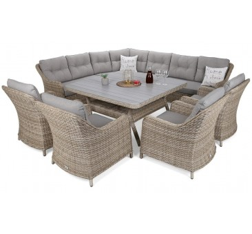 Lauko baldų komplektas WINTSOR DINING BEIGE/GREY