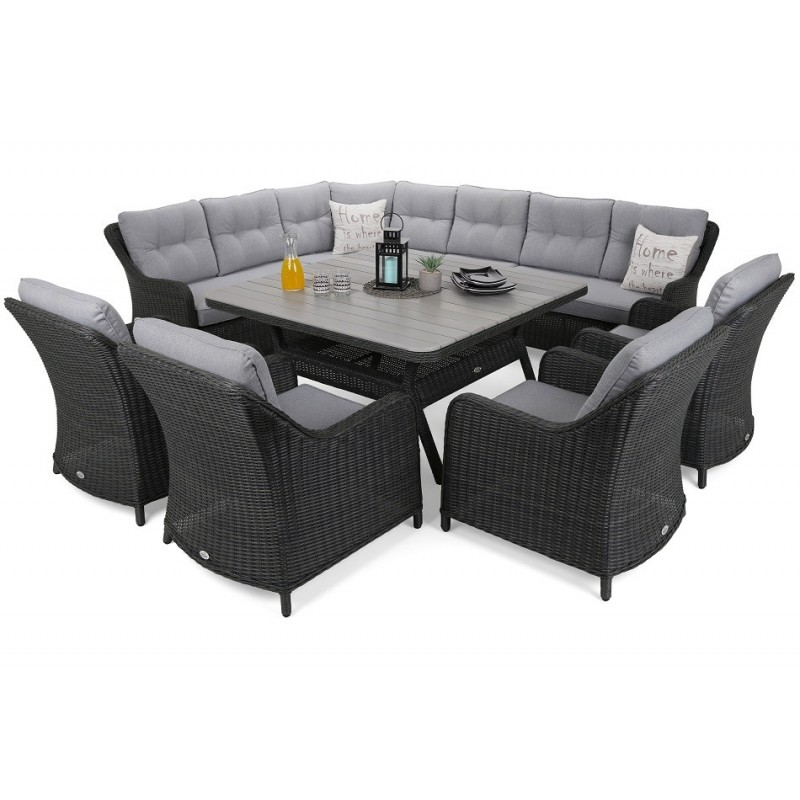 Lauko baldų komplektas WINTSOR DINING GREY/LIGHT