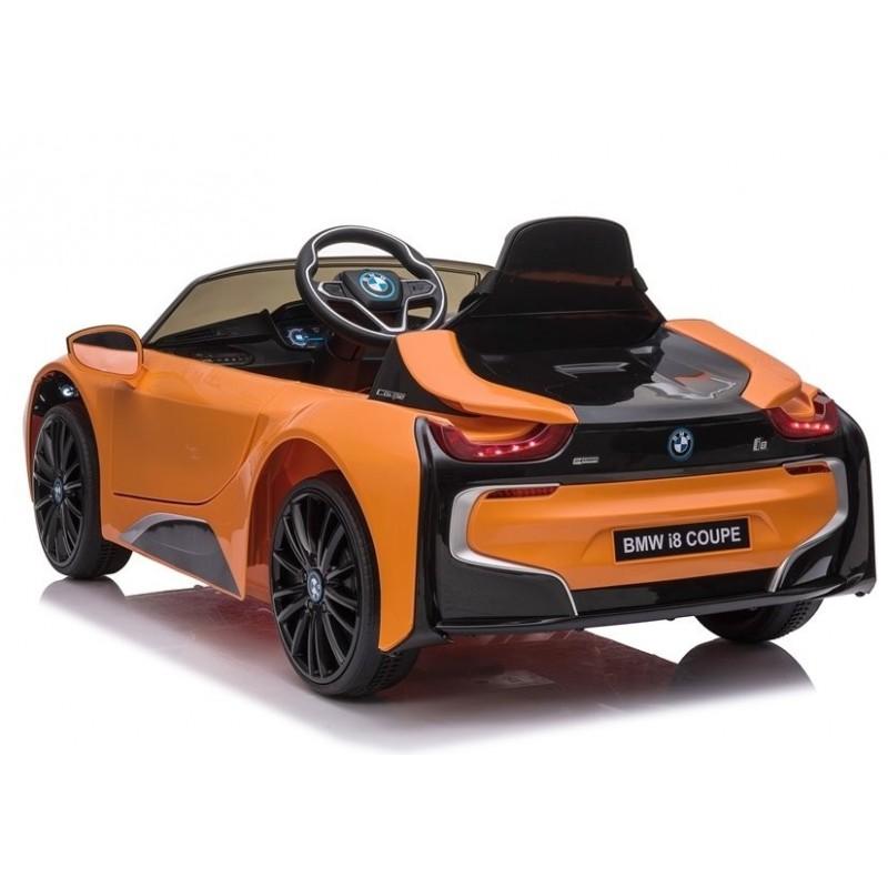 Elektromobilis BMW I8 JE1001, 12V, oranžinis