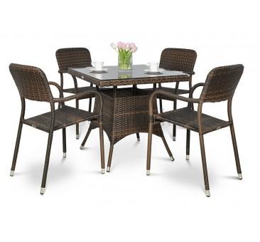 Pinti lauko baldai OPAL/ LAGO DINING MODERN BROWN