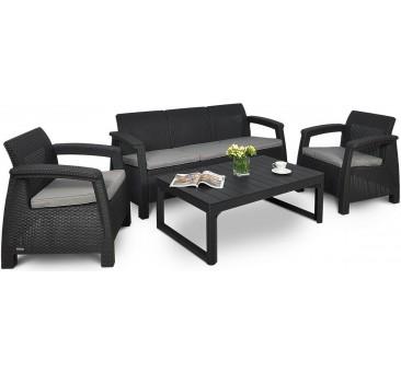 Lauko baldai CORFU MAX 3 GRAPHITE