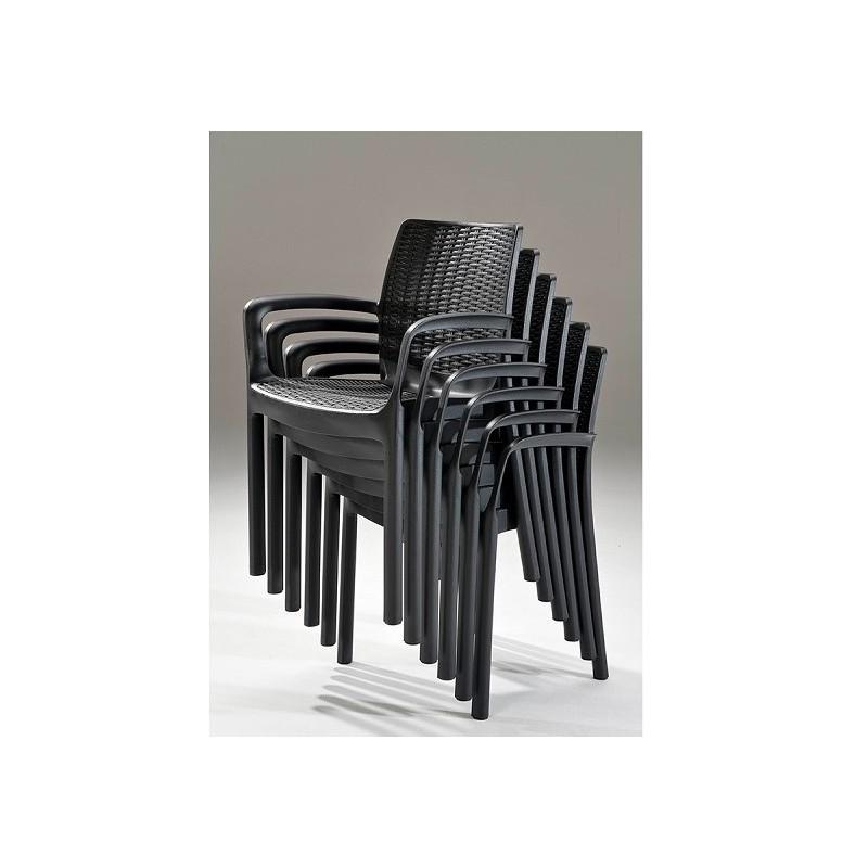 Lauko baldai BALI/MELODY 6+1 GRAPHITE