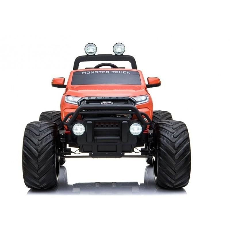 Elektromobilis FORD RANGER MONSTER, 4x4, 12V, oranžinis