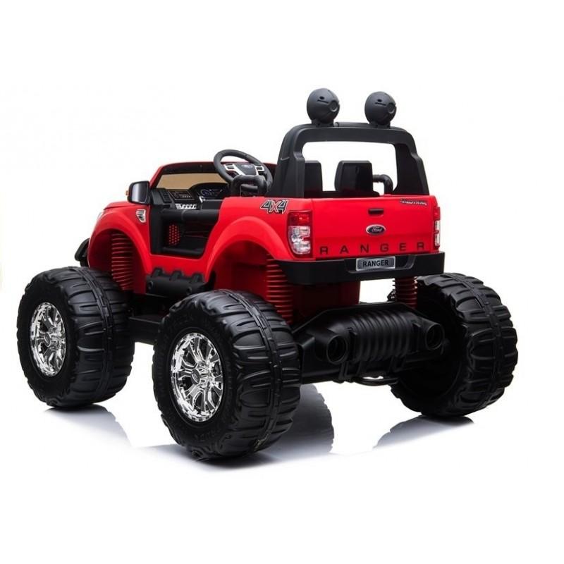 Elektromobilis FORD RANGER MONSTER, 4x4, 12V, raudonas