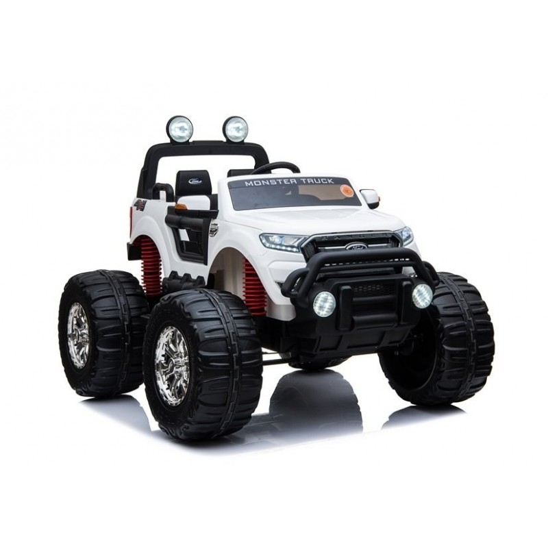 Elektromobilis FORD RANGER MONSTER, 4x4, 12V, baltas