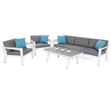 Lauko baldų komplektas MADAGASKAR WHITE/GREY