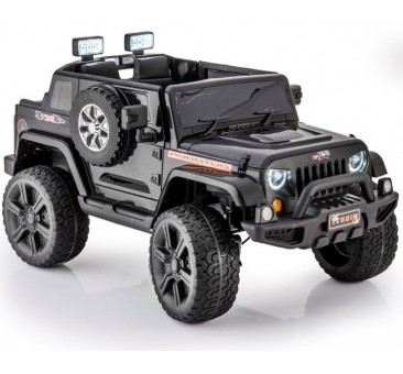 Elektromobilis JEEP HL1668, 4x4, 2x12V, juodas