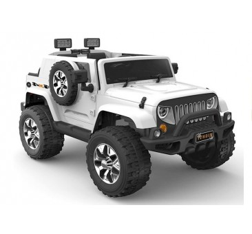 Elektromobilis JEEP HL1668, 4x4, 2x12V, baltas
