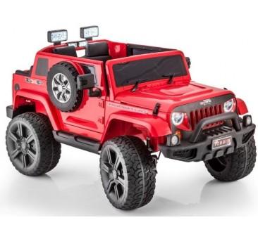 Elektromobilis JEEP HL1668, 4x4, 2x12V, raudonas