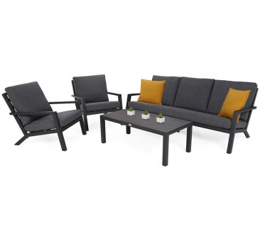 Lauko baldų komplektas BOSTON GREY/GREY