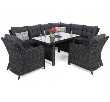 Lauko baldų komplektas KALIFORNIA DINING GREY/GREY