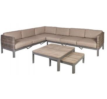 Kampinis baldų komplektas ADMIRAL su dviem staliukais